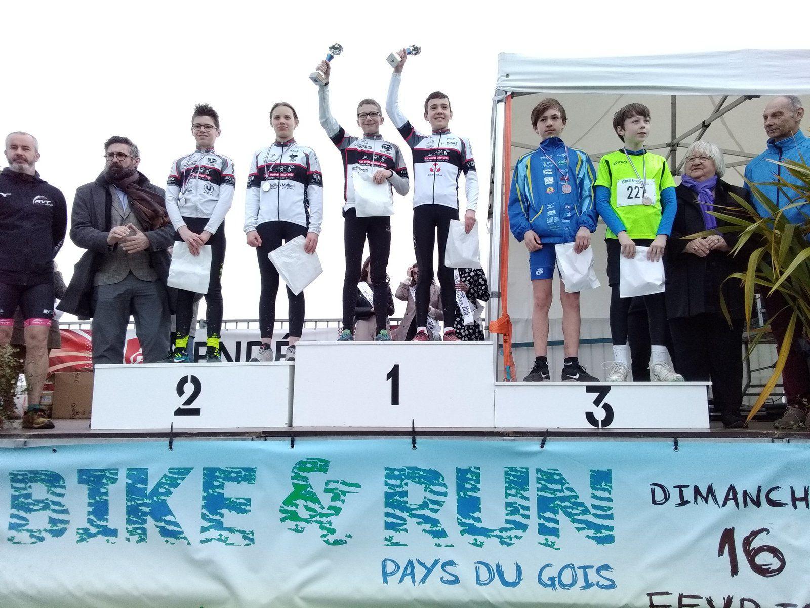 BIKE AND RUN DE BEAUVOIR SUR MER : 6 PODIUMS !