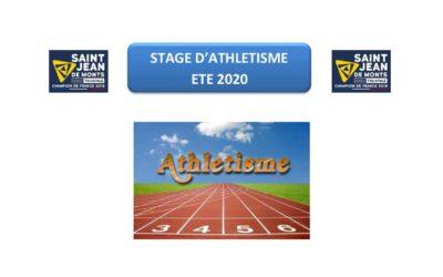STAGE D'ATHLETISME 2020 POUR LES JEUNES